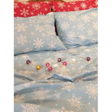 Снежинки голубые