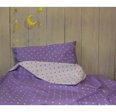Горошек фиолетовый, поплин