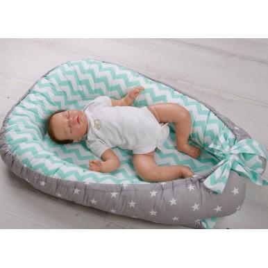 Гнездышко кокон babynest позиционер для новорожденного № 09
