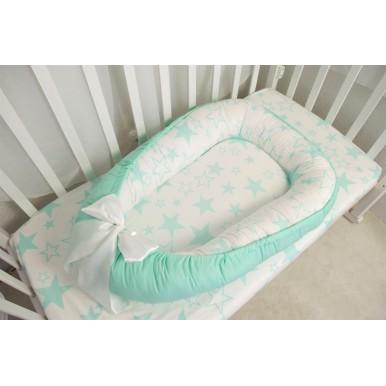 Гнездышко кокон babynest позиционер для новорожденного № 08