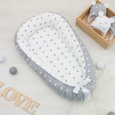Гнездышко кокон babynest позиционер для новорожденного № 05
