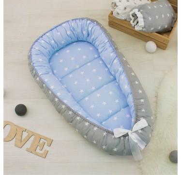 Гнездышко кокон babynest позиционер для новорожденного № 06