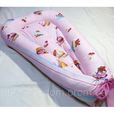 Гнездышко кокон babynest позиционер для новорожденного № 01