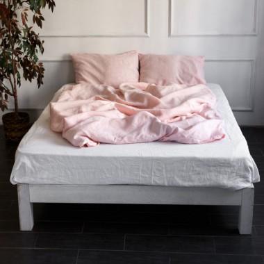 Лен Розовый+ Белый микс