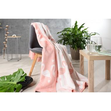 Покривало-плед Kassandra Flamingo
