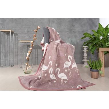 Покривало-плед Kassandra Flamingo taupe