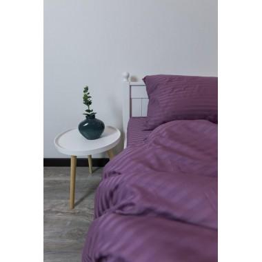 Страйп -сатин  Фиолетовый  , Турция  1х1 см