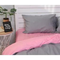 Пыльный розовый + Серый  микс