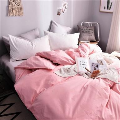 Пыльный розовый + Белоснежный  микс