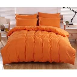 Однотонный поплин   ,Апельсиновый